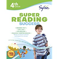 4th Grade Jumbo Reading Success Workbook: 3 Books in 1--Spelling Success, Vocabulary Success, Reading Comprehension Success; Activities, Exercises & Tips to Help Catch Up, Keep Up & Get Ahead