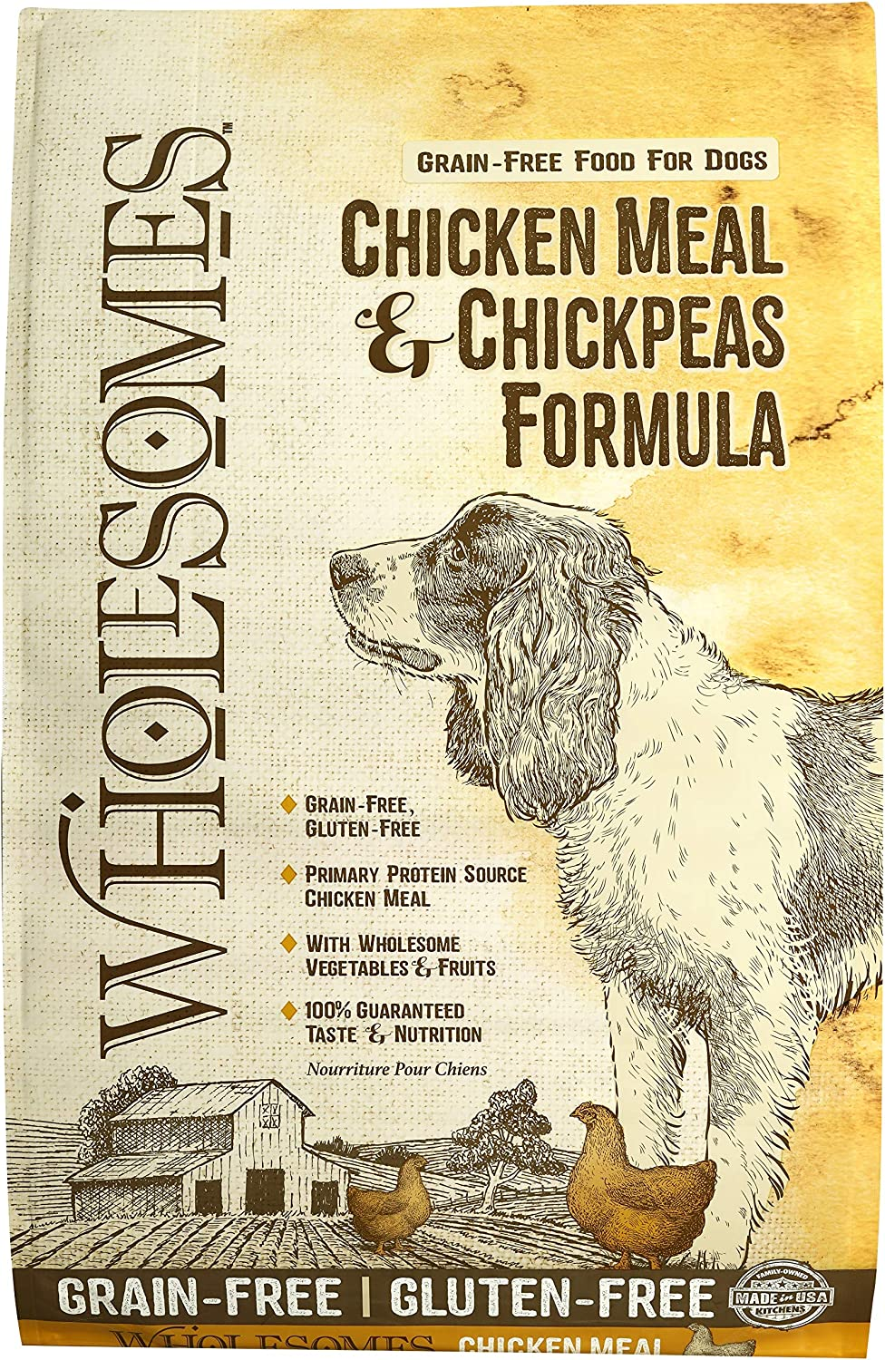 Wholesomes Chicken Meal & Chickpeas Grain Free Dry Dog Food, 35 lb.