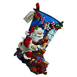 Bucilla Felt Applique Christmas Stocking Kit: Gingerbread Santa