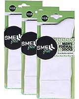 Smell Free Organic Bamboo Men's Formal Socks (White) - Pack of 3