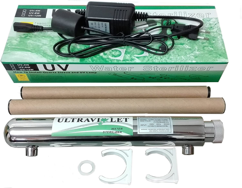 Kit depuracion luz ultravioleta 12 Wats: Amazon.es: Hogar