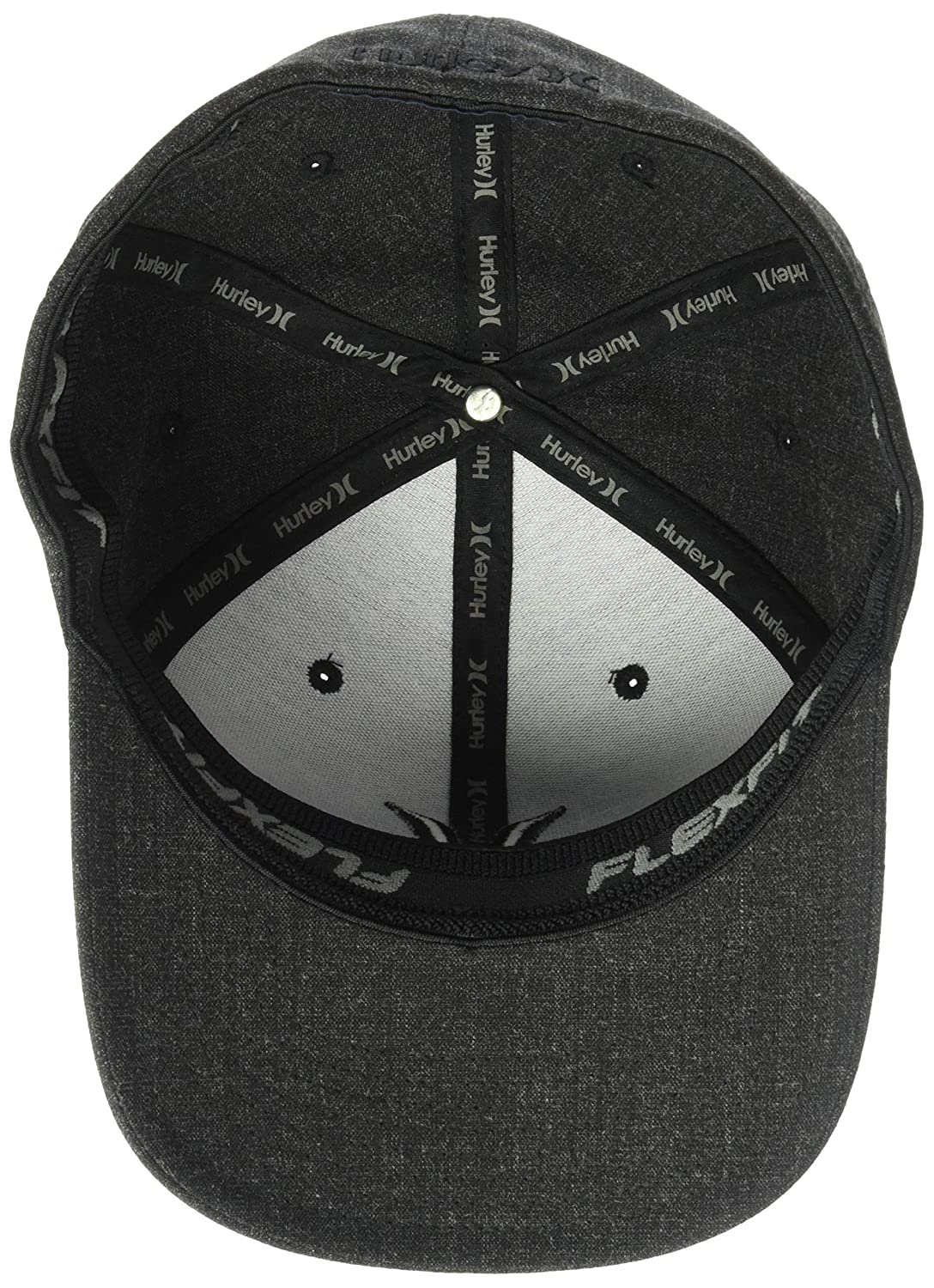 low priced dffaa 02a80 Amazon.com  Hurley Men s Black Textures Baseball Cap  Clothing