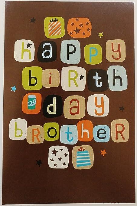 Feliz tarjeta de felicitación de cumpleaños para hermano