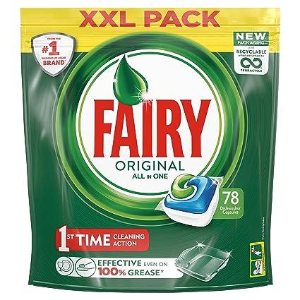 Fairy Original - Pastillas para lavavajillas todo en uno (78 ...