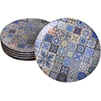 Keramika Servis Tabağı, Çok Renkli, Standart