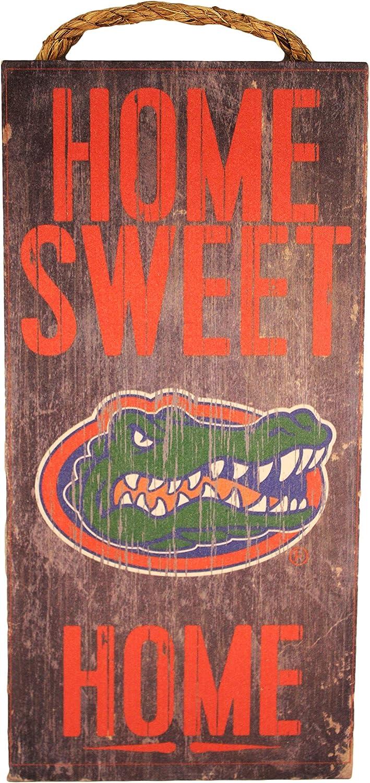 "NCAA Florida Gators 6"" x 12"" Home Sweet Home Wood Sign"