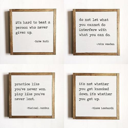 5b90f5cc41b32 Amazon.com: Set of 4 sports quotes: Handmade