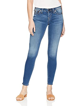 e251e140c77 Amazon.com  True Religion Women s Halle Mid Rise Super Skinny Eyelet ...