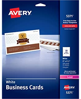 Amazon avery printable business cards laser printers 250 avery uncoated business cards for laser printers 250 cards per pack case pack of flashek Choice Image