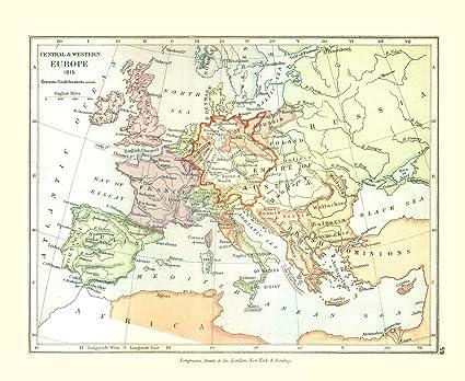 Amazon.com: Old Europe Map - Europe in 1815 - Gardiner 1902 ...
