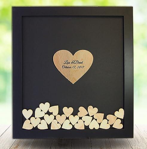 Amazoncom Wedding Guest Book Alternative Drop Top Heart Frame