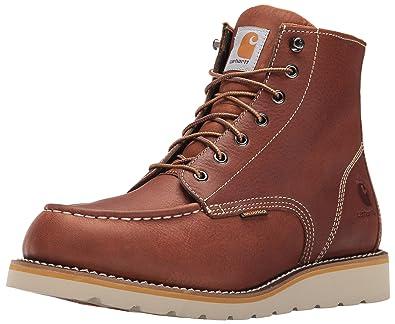 Carhartt Men's CMW6175 6-inch Waterproof Wedge Soft Toe Work Boot, Tan, 8