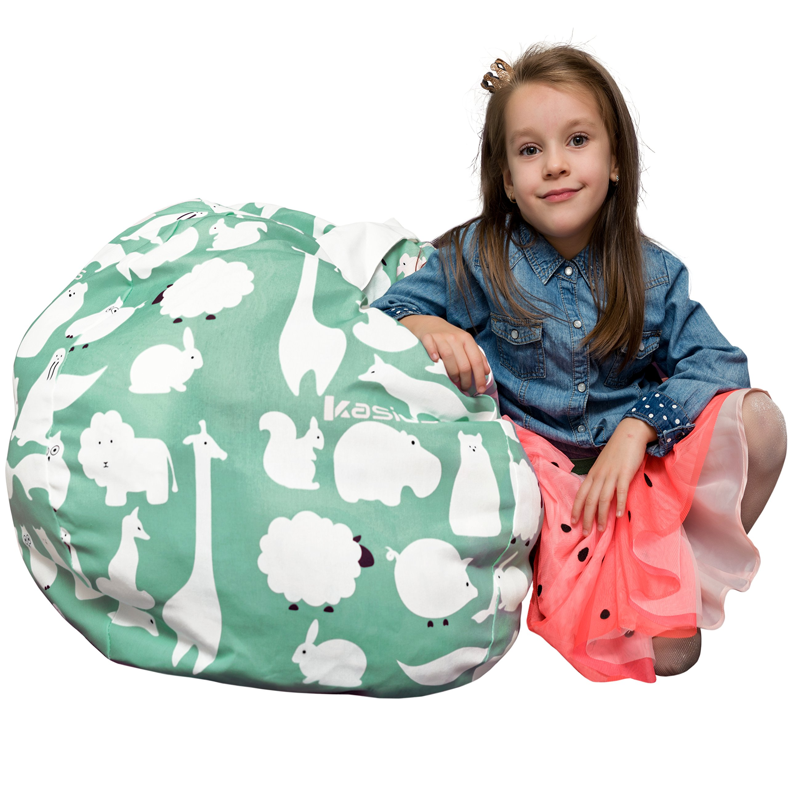 Bean Bag Stuffed Animal Storage - Improved Toy Organizer Design - Better than Stuff Animal Hammock - Extra Large - Stuffed Animal Holder - for Kids and Teens