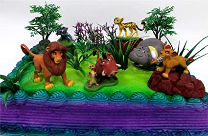 Amazon Com The Lion King Lion Guard 19 Piece Birthday Cake Topper