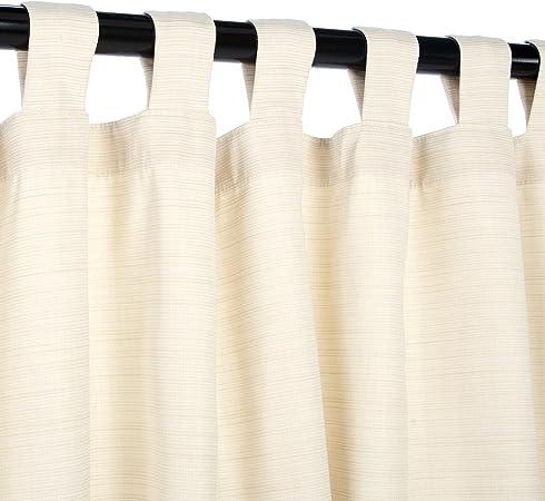 Custom SUNBRELLA DUPIONE indoor// outdoor Tab top Curtain