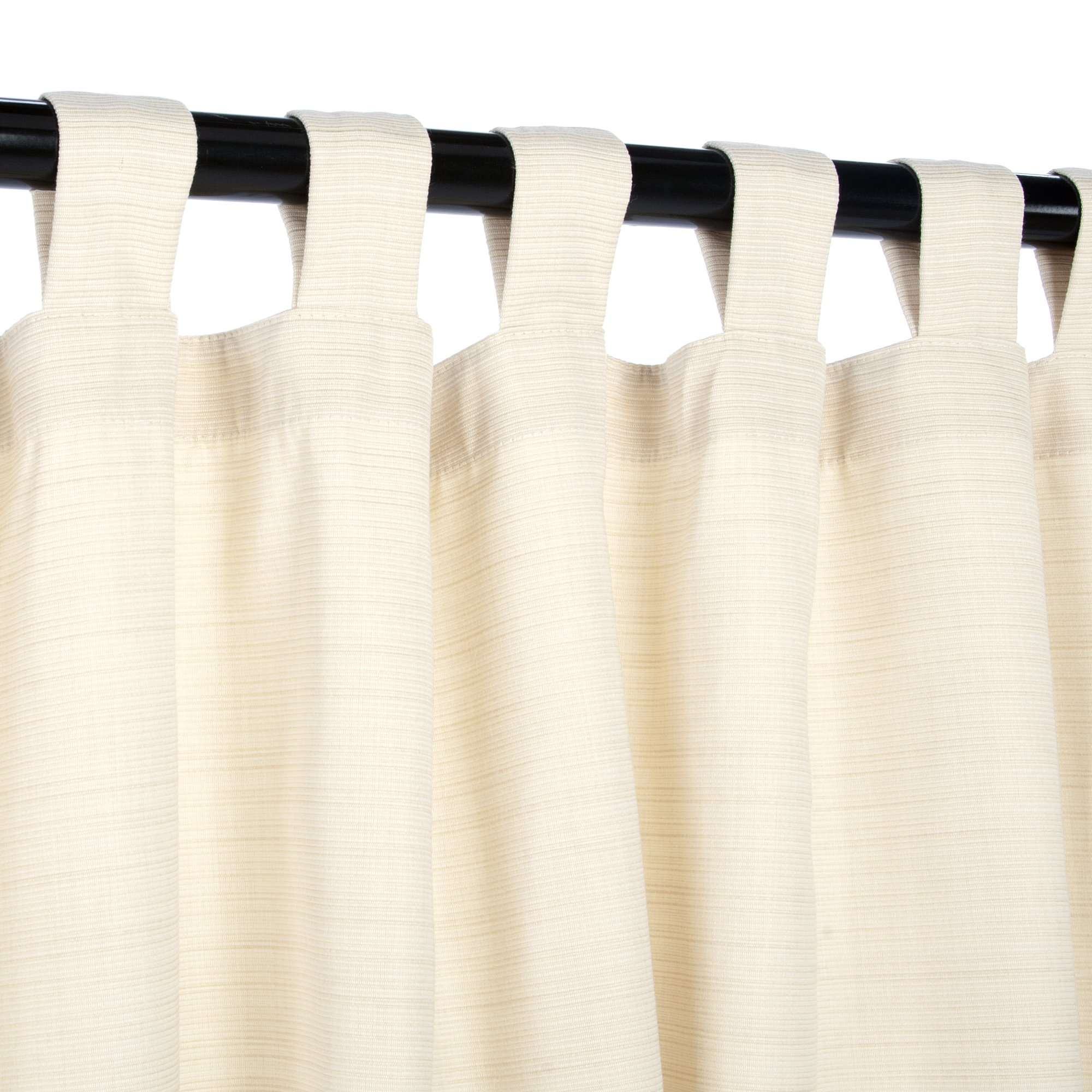 Sunbrella Outdoor Curtain Panel, Tab Top, 50 by 108 Inch, Dupione Pearl (Available in Multiple Colors and Sizes) Includes Custom Storage Bag; Perfect For Your Patio, Porch, Gazebo, Pergola, and More