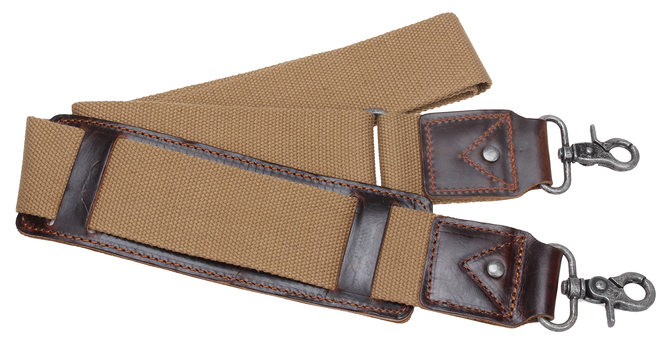 Iblue Replacement Luggage Shoulder Strap Canvas Adjustable Padded Travel Duffle Bag Straps # J2 (khaki)