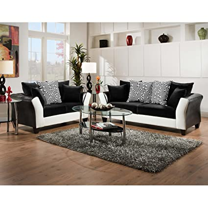 Amazon Com Flash Furniture Riverstone Implosion Black Velvet Living
