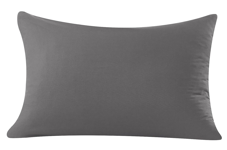 Mohap 2/Taie doreiller/ /Bross/é en Microfibre/ Gris /d/élicat Double Couture Couture Lavable en Machine Microfibre Standard:20x30 /exp/érience en Peluche Super Doux/