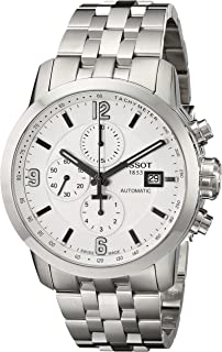 amazon com tissot men s t0554271105700 prc 200 stainless steel tissot men s t0554271101700 prc 200 stainless steel watch