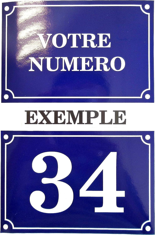 plaque ou etiquette numero boite aux lettres noir 60x50mm