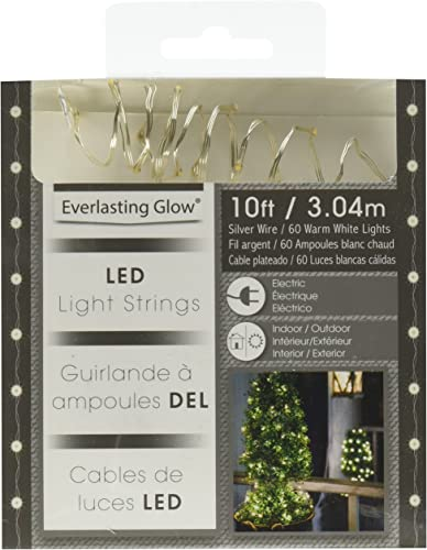 The Gerson Company 10 Outdoor Electric Micro LED Light String, Warm White