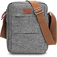 CoolBELL Messenger Bag Carrying Case Handbag Tablet Briefcase Oxford Cloth Shoulder Bag Compatible 10.6 Inches Tablet/iPad for Men/Women / College/Teen (Grey)