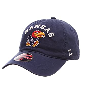 new concept 24219 52afb Kansas Jayhawks Royal  quot Centerpiece quot  Relaxed Fit Dad Cap - NCAA,  Adjustable One