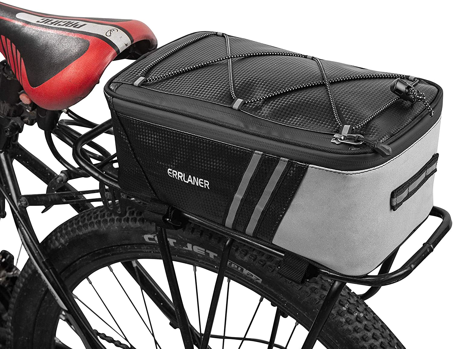 Bicycle Carrier Bag Rear Rack Trunk Bike Luggage Back Seat Pannier Reflectivs