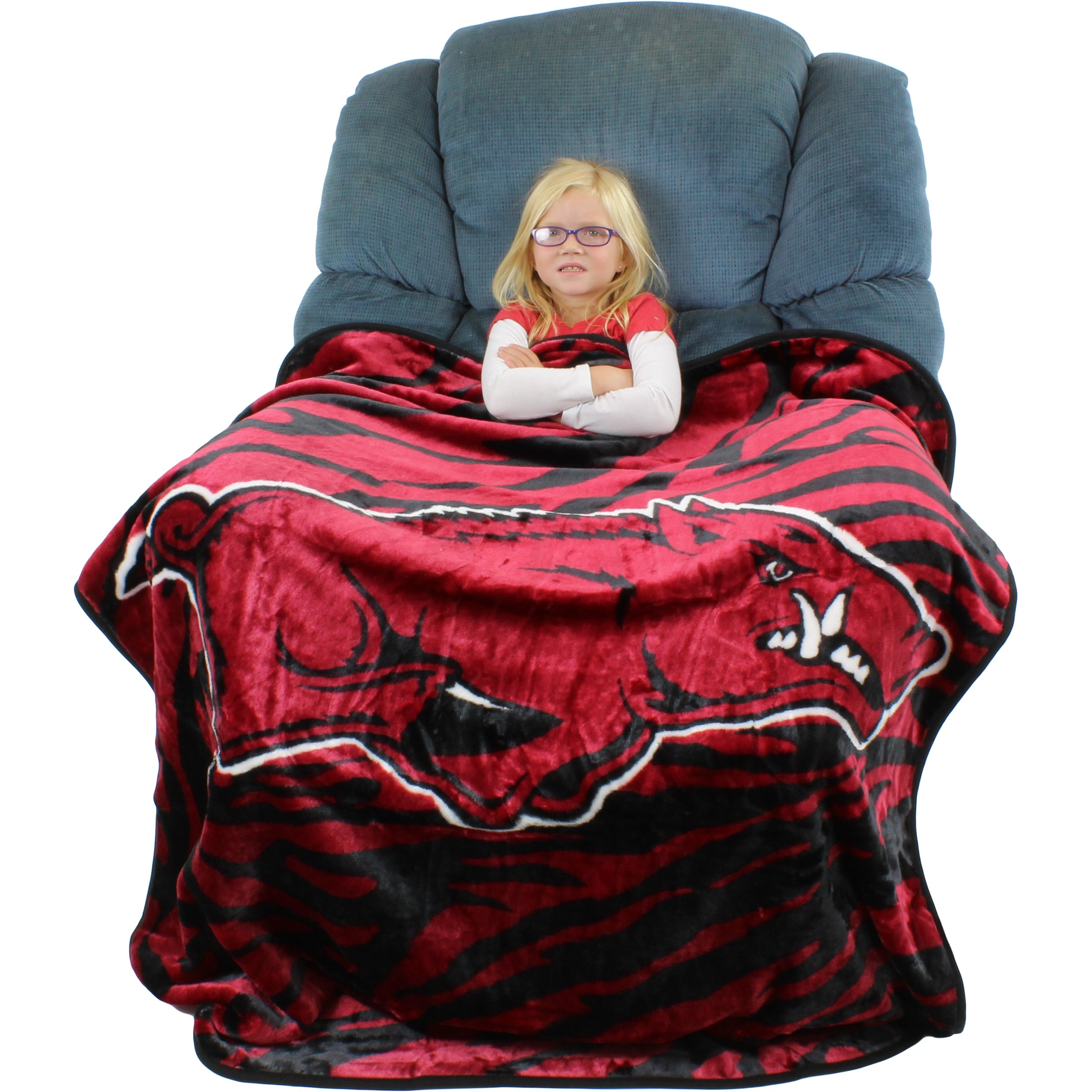 College Covers Raschel Throw Blanket, 50'' x 60'', Arkansas Razorbacks by College Covers