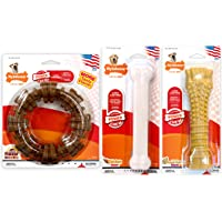Nylabone Power Chew Made in The USA Chew Toy Bundle for Aggressive Chewers, 3 Pack