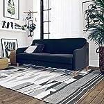 DHP Jasper Linen Upholstered Coil Futon, Multi-Position Back, Converts to Sleeper,