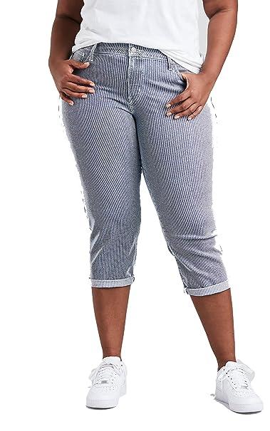 Levis Womens Plus Size Shaping Capri Jeans