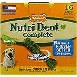 Nylabone Nutri Dent Complete Dog Treat Bones for Large Dogs up to 50 Pounds
