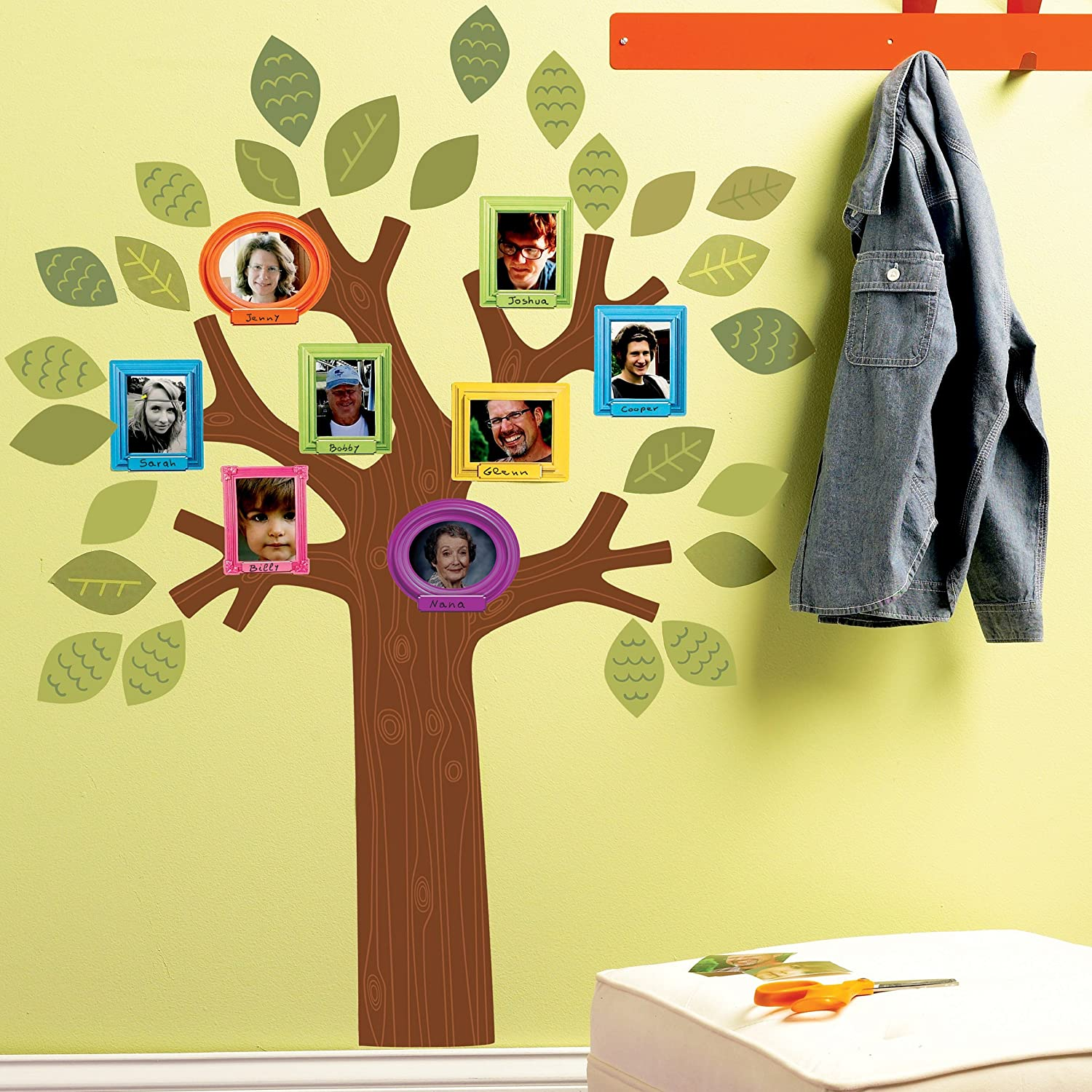 Amazon.com: Wallies Wall Decals, Fun Family Tree Wall Sticker: Home ...