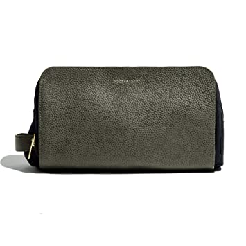 bfb458991ede Amazon.com   Hook   Albert Olive Leather Dopp Kit Alpine Collection ...