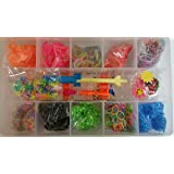 2000 PIECE MULTI GLITTER LOOM RUBBER BANDS CHARMS BRACELET MAKING DIY KIT BOXED FOR GIRLS AND KIDS GIFT BOX