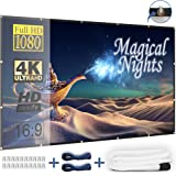 Outdoor Projector Screen 120 Inch - Foldable and Portable Movie Screen with Hooks and Ropes, No Stand Needed, Only 2 LBS - Clear and Bright Image, Great for Portable Projector (USA SELLER)