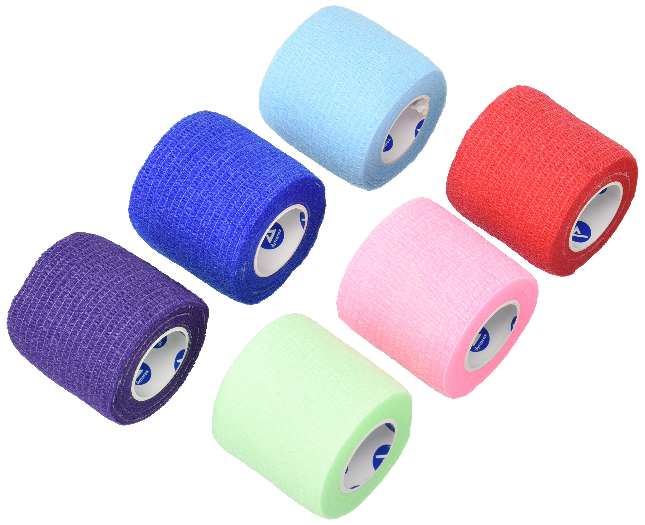 Dynarex Sensi Wrap, Rainbow Color, 2 Inches X 5 Yards, 36 Count