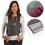 Laleni Fascia Porta Bebè, 100% Cotone Organico, Grigio