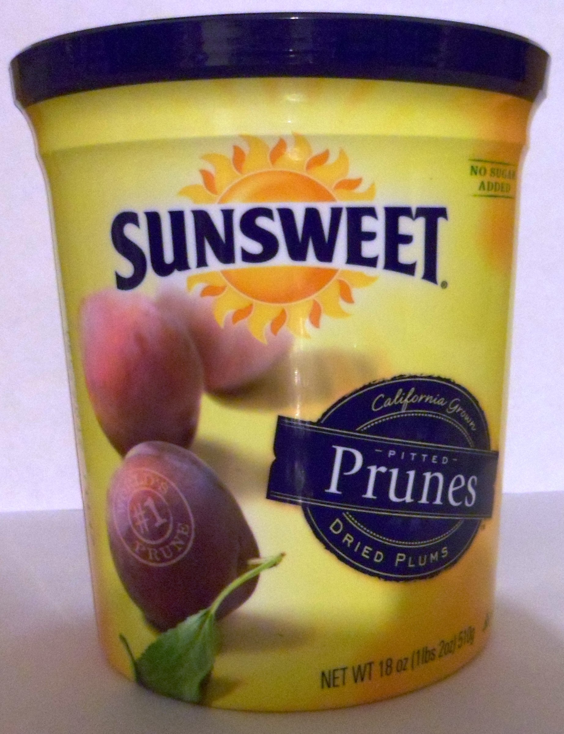 Sunsweet Pitted Prunes Net Wet 18 Oz (1 lbs 2 oz) 510g (Pack of 8)