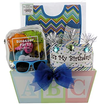 Amazon GreatArrivals Gift Baskets Babys 1st Birthday Boy Baby