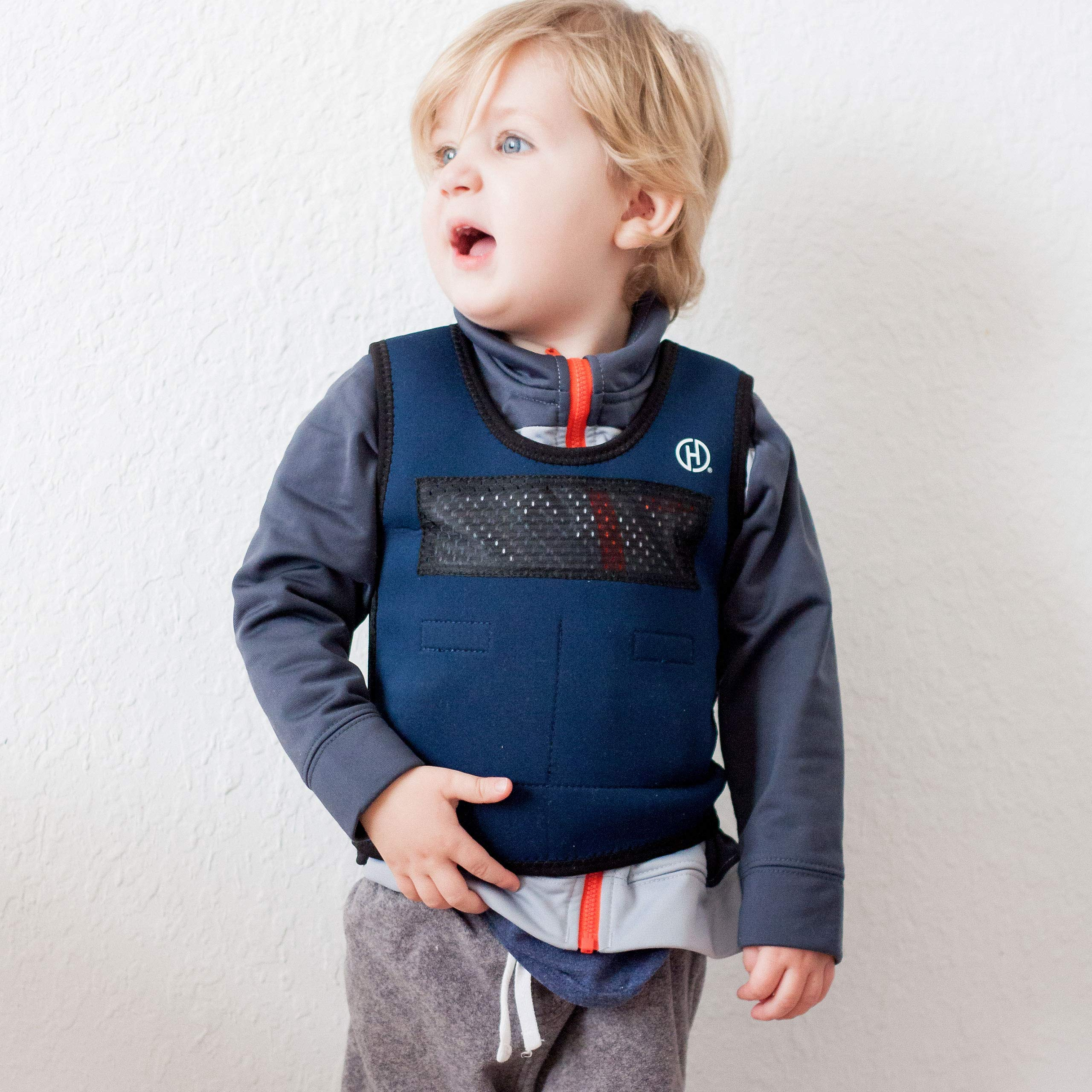 Weighted Compression Vest for Kids (Ages 2 to 4) by Harkla - Helps with Autism, ADHD, Mood, Sensory Overload - Sensory Weighted Compression Vest for Children with Therapy Benefits