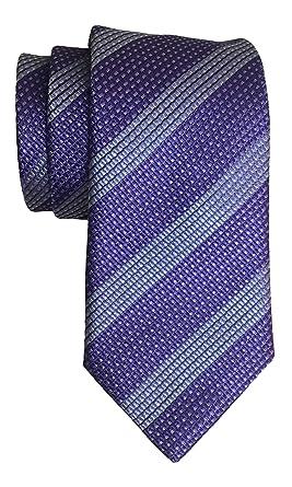 HugoBoss. Corbata de rayas, color morado: Amazon.es: Ropa y accesorios