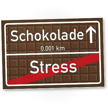 Schokolade Kunststoff Schild Braun Kleines Persönliches Geschenk