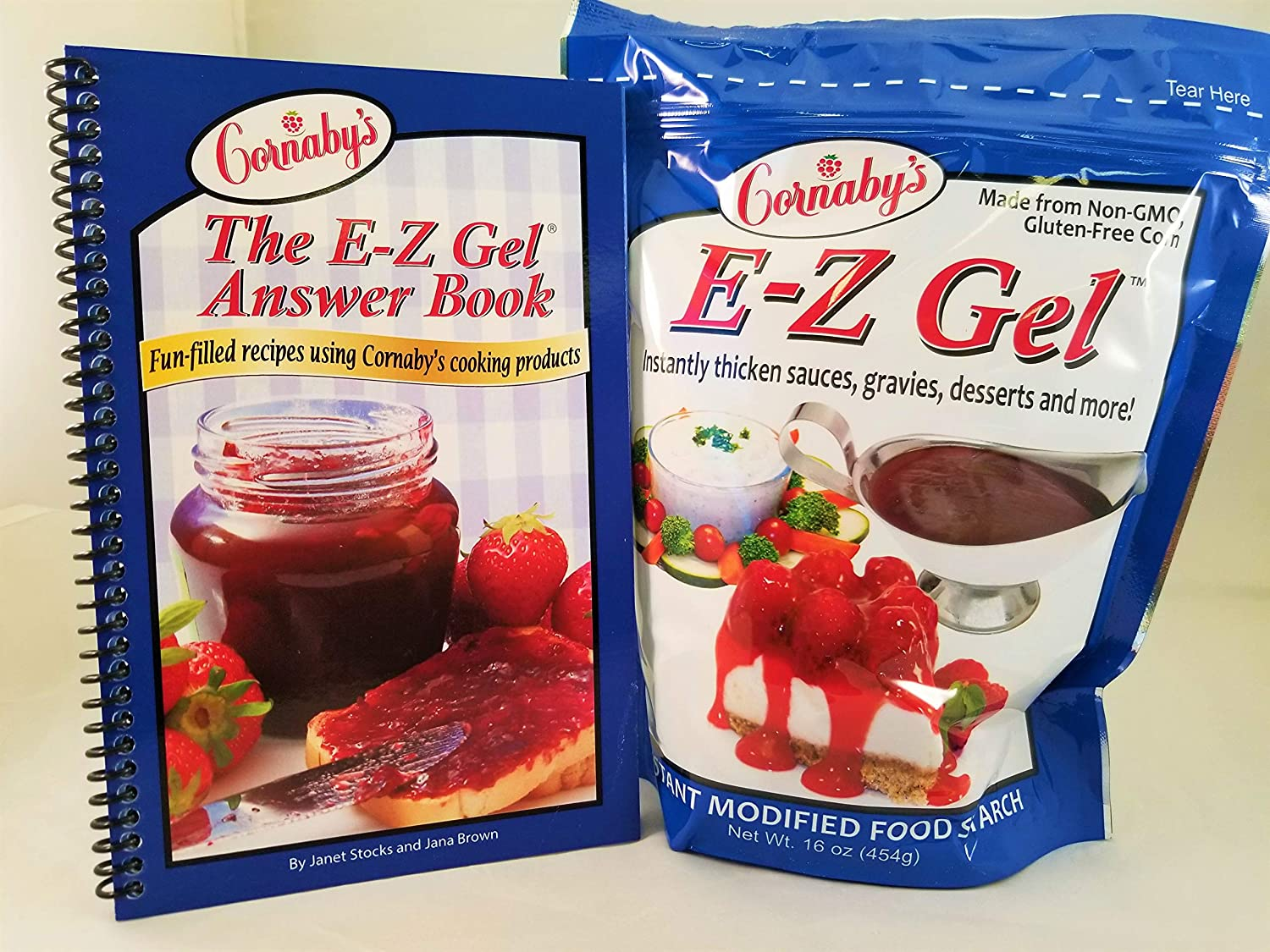 Cornaby's E-Z Gel Starter Kit: Includes Cookbook and a 16 oz pkg. of EZ-Gel; an instant Food Thickener for Cooking and Canning.