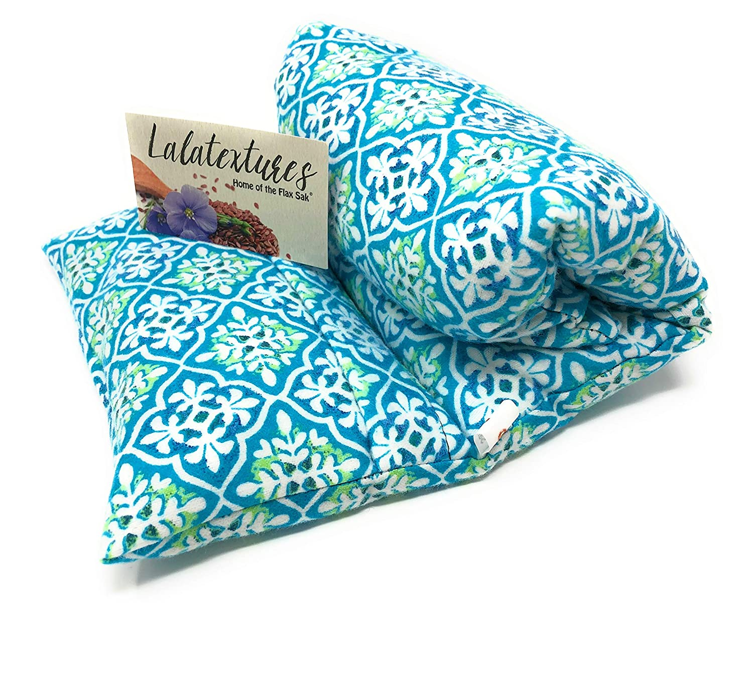 The Flax Sak® Large Lavender Infused Microwavable Heating Pad With Washable Cover. Hot/Cold Pack. Fleur de Lys