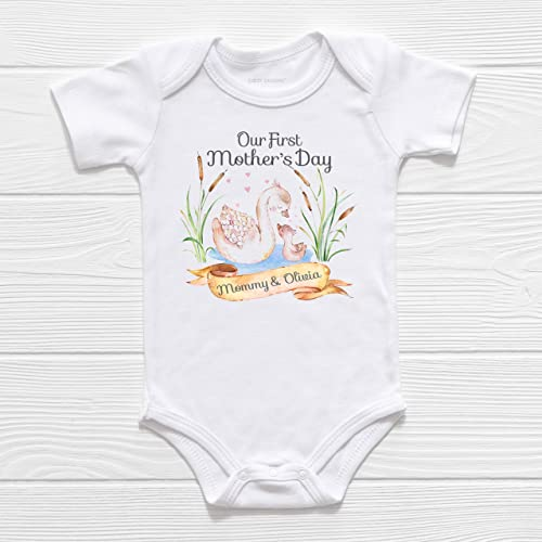 Personalised Baby First Mothers Day Baby Romper New Baby Gift Babies First Mothers Day Mothers Day Gift Personalised Baby Romper