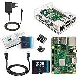 V-Kits Raspberry Pi 3 Model B+ (Plus) Complete Starter Kit mit Klar Gehause Case Set- (EU Edition) -Enthalt: Raspberry Pi 3 Model B+ (Plus) mit 5 Wesentlich Zubehör