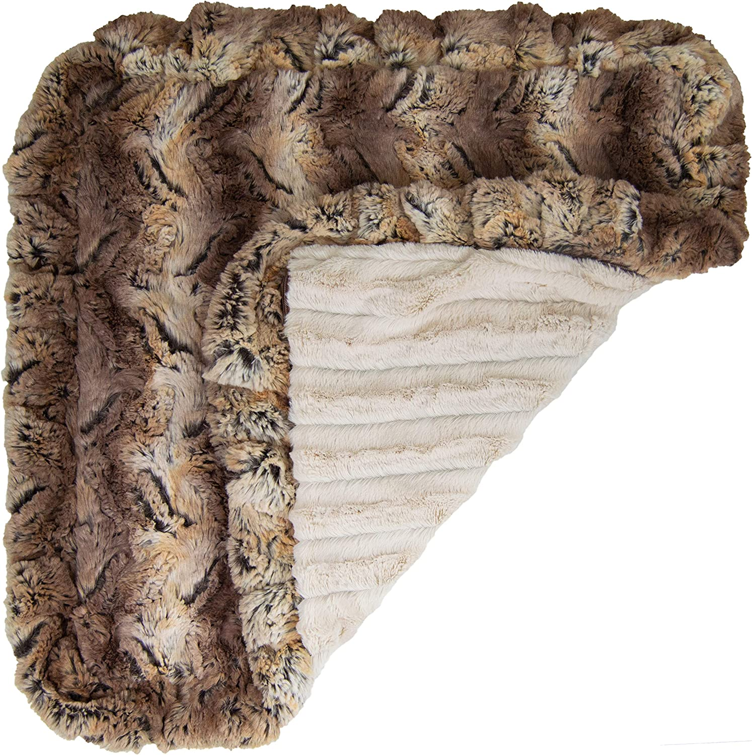 Bessie and Barnie Natural Beauty// Simba Luxury Ultra Plush Faux Fur Pet Cat Multiple Sizes Puppy Super Soft Reversible Blanket Dog